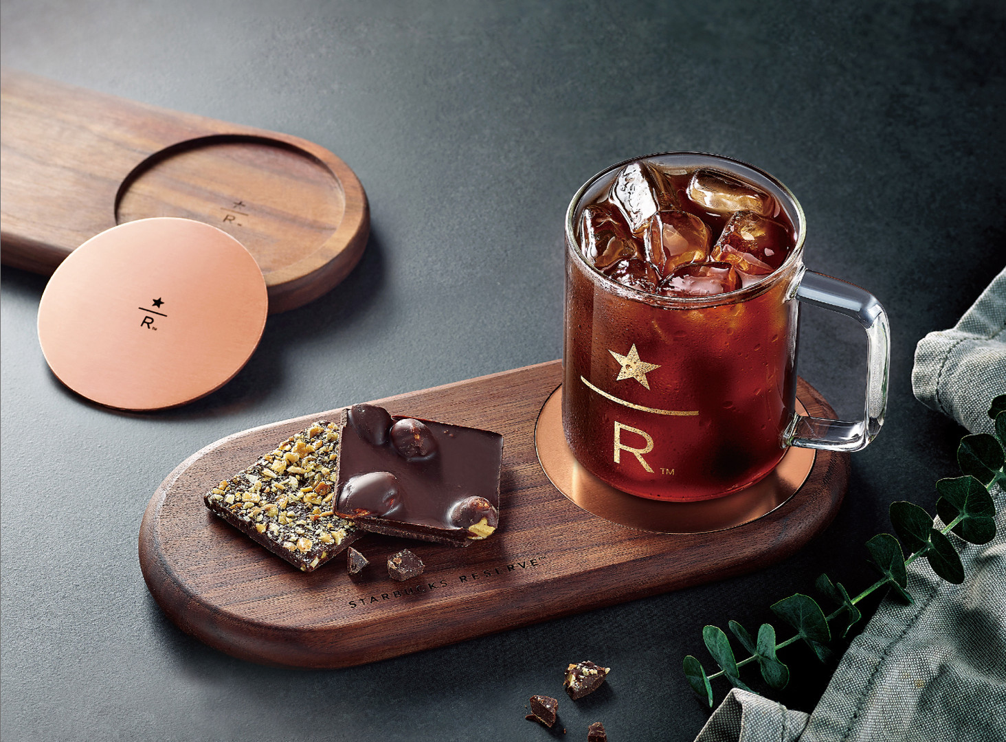 Starbucks Reserve Wood Tray Set