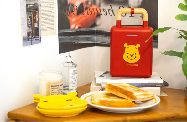 10X10 Pooh Sandwich & Waffle Maker