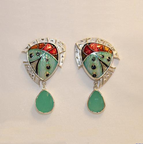 Opalescent Butterfly Wing Earrings