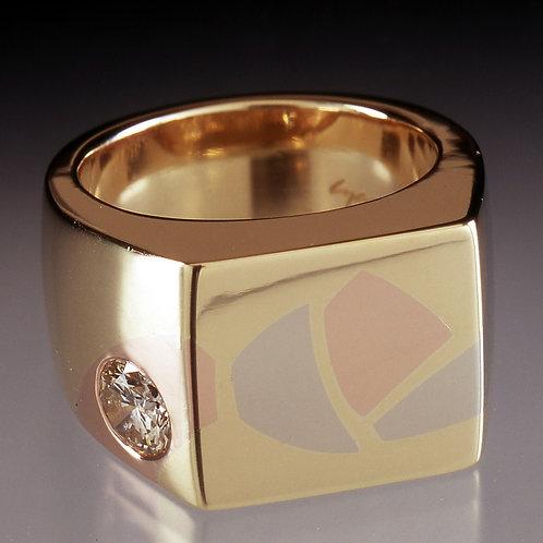 Ties that Bind Men's Inlaid Signet Ring