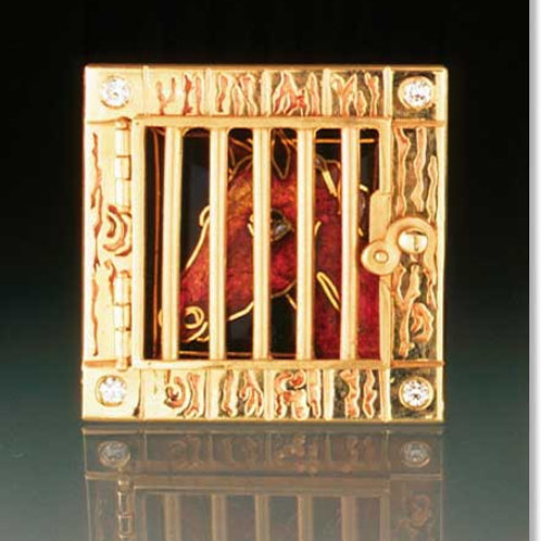 Gated Stable Picture Window Pendant and Brooch