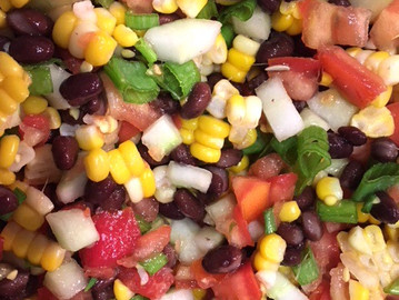 Black Bean, Sweet Corn, and Tomato Salad (or Salsa)!