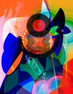 Kandinsky and Miro have dinner with Beckett 45x59cm