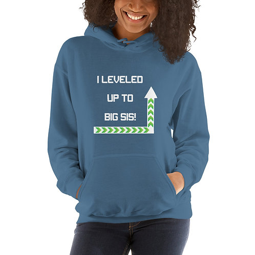 Leveled Up To Big Sister Unisex Hoodie