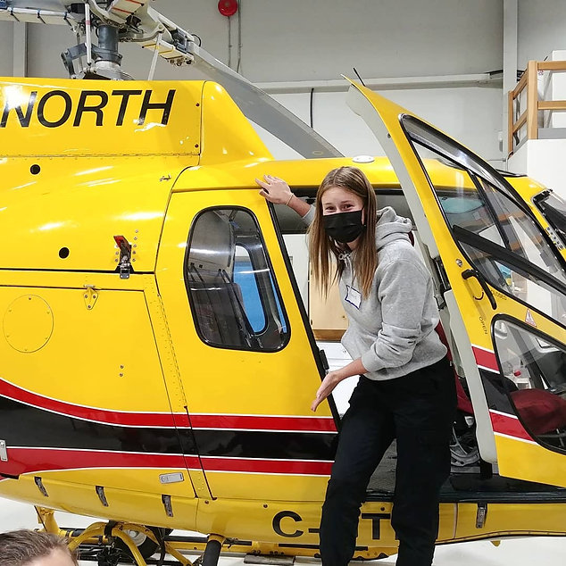 helicopter, woman, trades woman