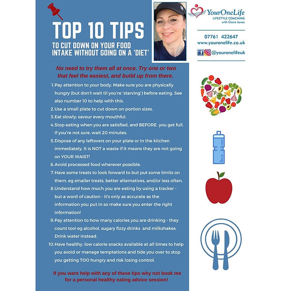 Copy of top 10 tips to cut down on your