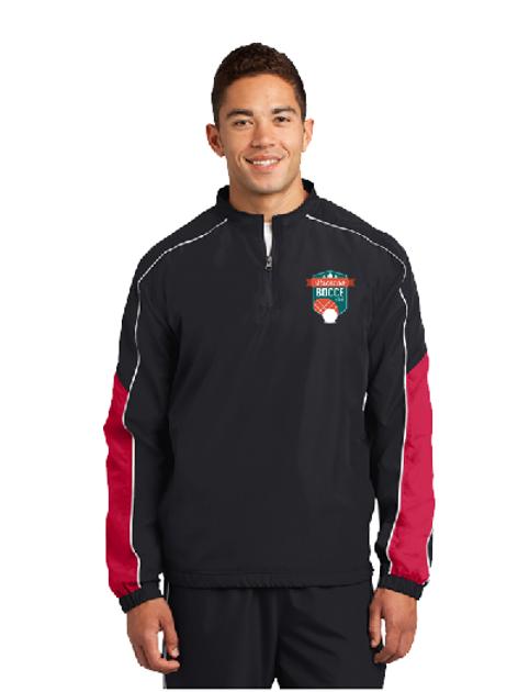 Sport-Tek® Piped Colorblock 1/4-Zip Wind Shirt