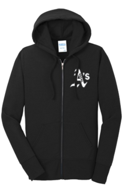 Full Zip Embroidered Hoodie w/Logo
