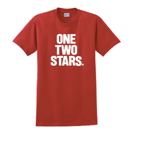 Short Sleeve Cotton T-Shirt-One Two Stars Logo