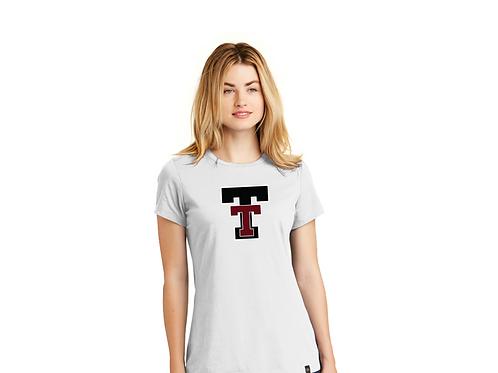 New Era® Ladies Heritage Blend Crew Double T T-Shirt