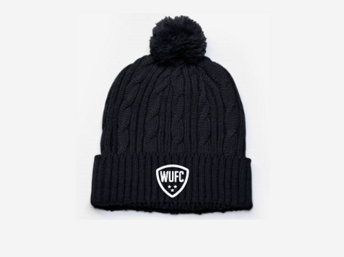 Willamette United Cable Knit Pom Pom Beanie