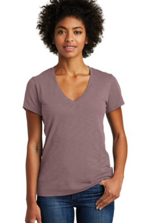 Alternative Weathered Slub So-Low V-Neck Tee