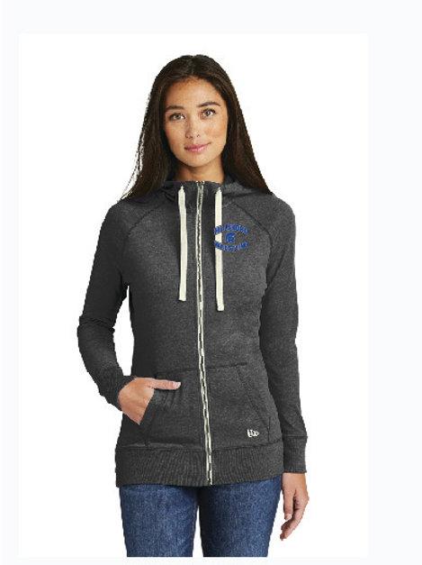 Ladies or Men's Style New Era® Sueded Cotton Blend Full-Zip Hoodie