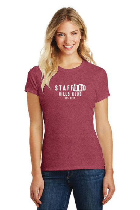 District Made® Ladies Perfect Blend® Crew Tee