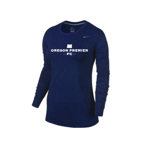 Oregon Premier Nike Women's Legend Long Sleeve T-Shirt