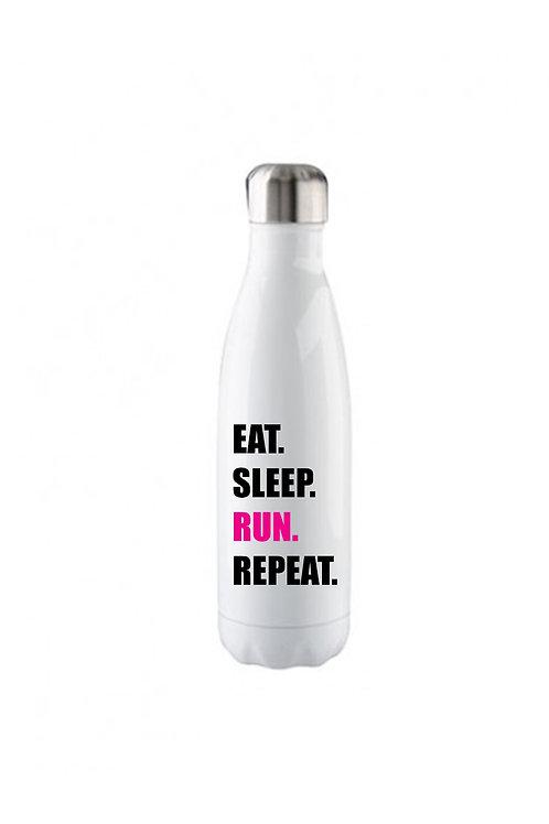 Eat. Sleep. Run. Repeat. Water Bottle