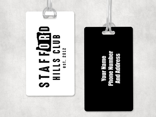 Stafford Hills Club Bag Tag