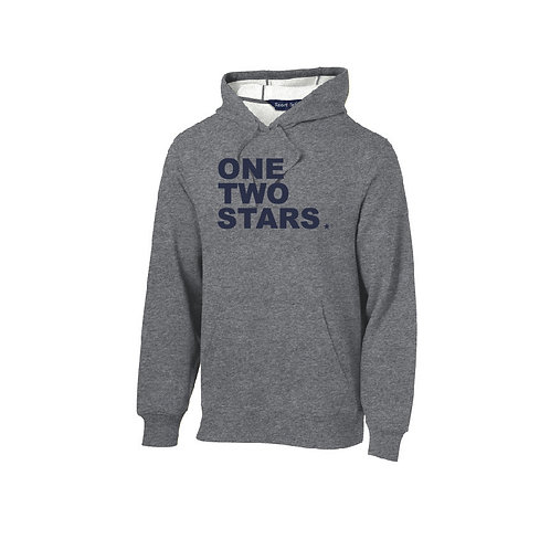 Cotton Hooded Sweatshirt - One Two Stars Logo