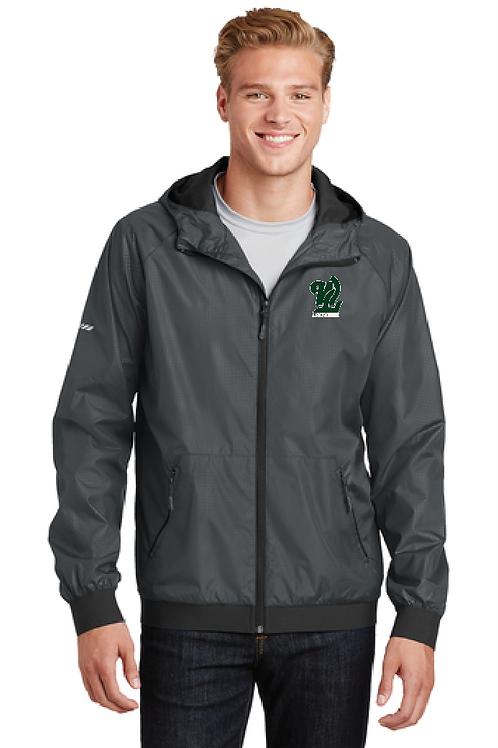 Ladies or Men's Style Embossed Hooded Wind Jacket