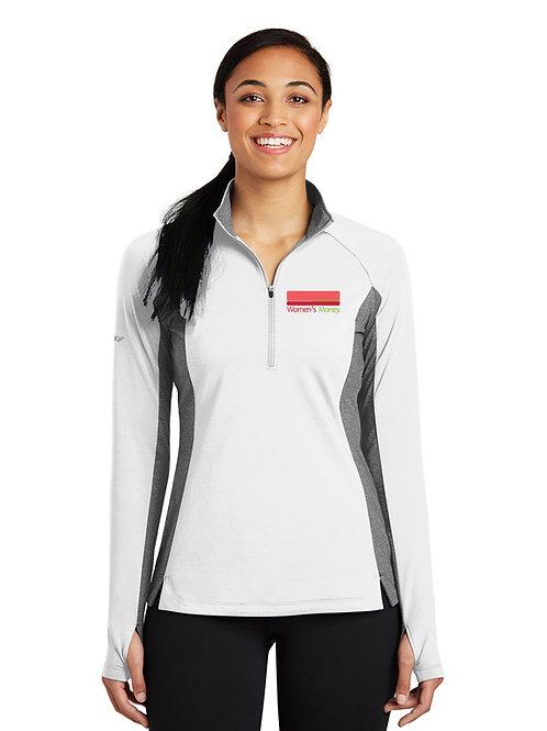 Sport-Tek® Ladies Sport-Wick® Stretch Contrast 1/2-Zip Pullover