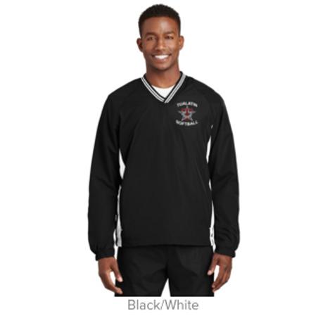 Sport-Tek ® Adult Tipped V-Neck Raglan Wind Shirt