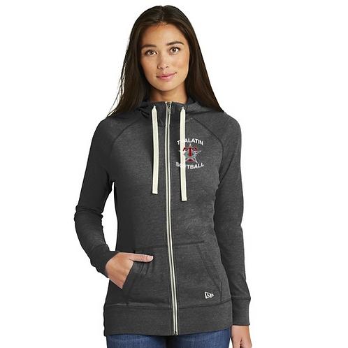 New Era ® Ladies Sueded Cotton Full-Zip Hoodie