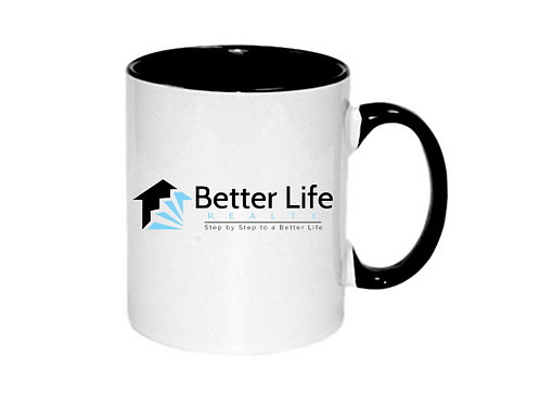 11oz Mug White with Black Core and Handle