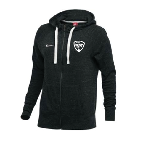 WUFC Nike Gym Ladies Vintage Full Zip Hoodie - Dark Grey