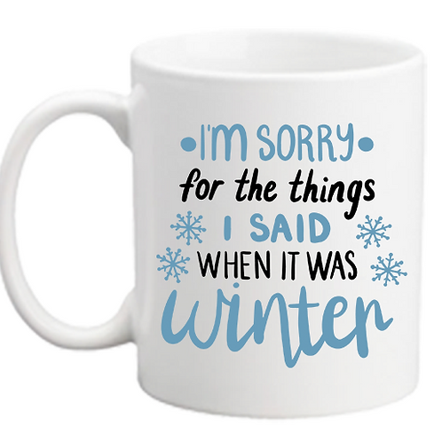 It Was Winter Mug