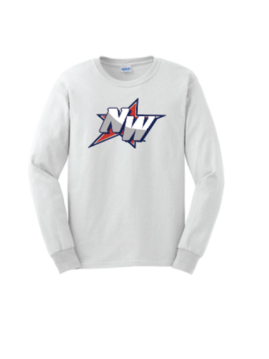 Long Sleeve Cotton T-Shirt-NW Logo