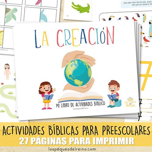 LA CREACIÓN - Libro de actividades bíblicas para Preescolar