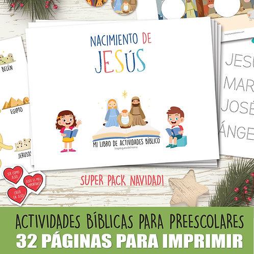 NACIMIENTO DE JESÚS -  Libro de actividades  - Preescolar
