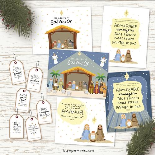 Pack tarjetas de Navidad +Etiquetas
