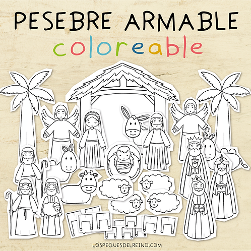 PACK PESEBRE - Coloreable y Color