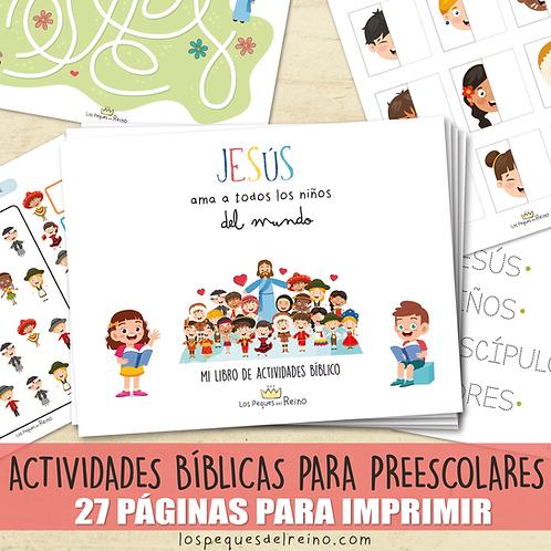 Jesús ama a todos los niños del mundo - Libro de actividades preescolar