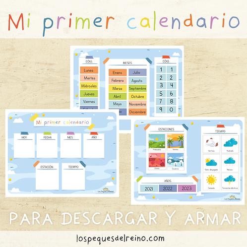 Mi primer calendario - preescolar
