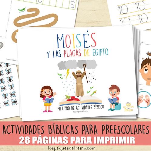 LAS PLAGAS DE EGIPTO - Libro de actividades bíblicas para Preescolar