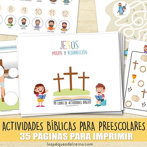 MUERTE Y RESURRECCIÓN DE JESÚS-  Libro de actividades  - Preescolar