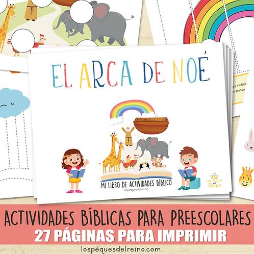EL ARCA DE NOÉ - Libro de actividades bíblicas para Preescolar