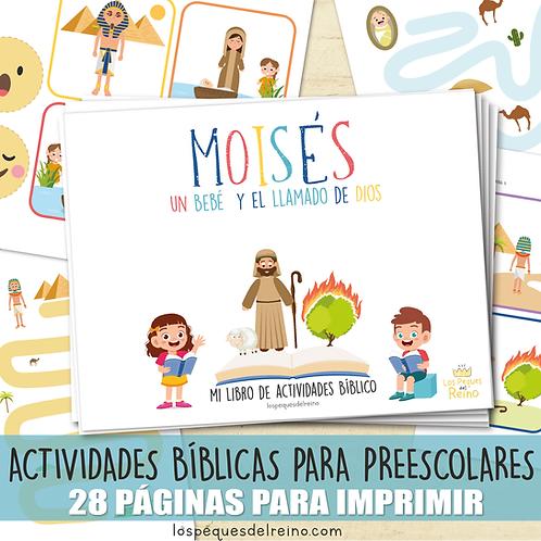 MOISÉS - Libro de actividades bíblicas para Preescolar