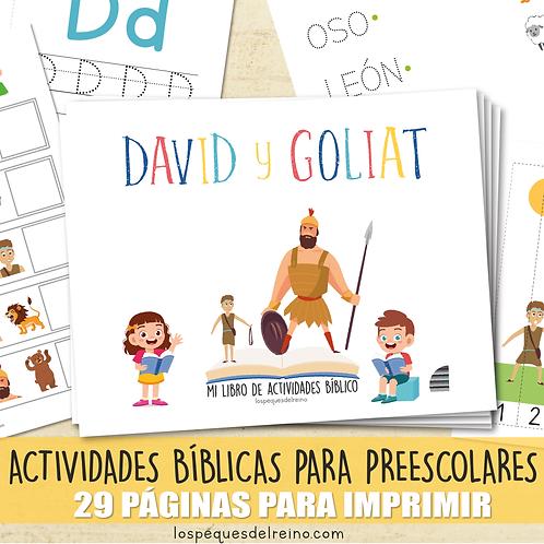 DAVID Y GOLIAT - Libro de actividades bíblicas para Preescolar
