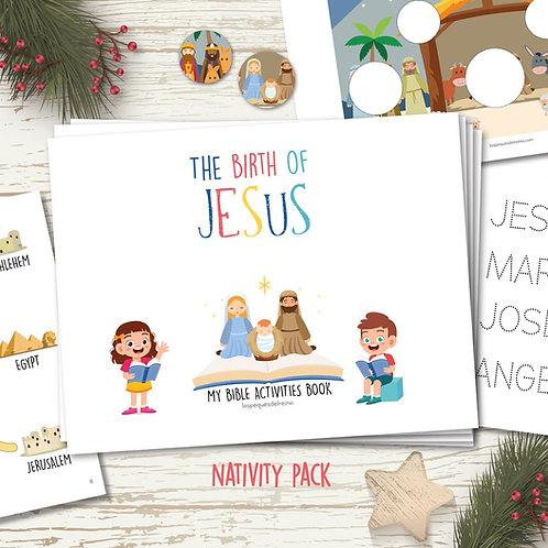 The birth of JESUS - English Version - bible activities for preschool