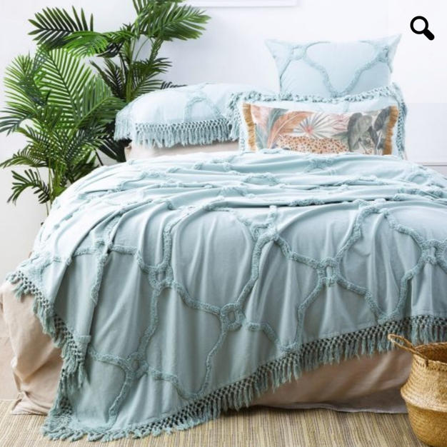 100% Cotton Chenille vintage washed tufted bed cover set $189.95