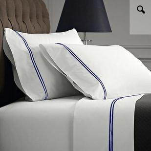 1000 Thread count Egyptian cotton King sheet set - Black on White $179.95