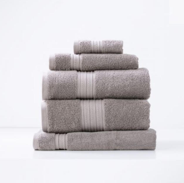Renee Taylor Brentwood 650 GSM Low twist bath sheet $34.95 Bath towel $29.95 Hand towel $14.95 and Face washer $9.95