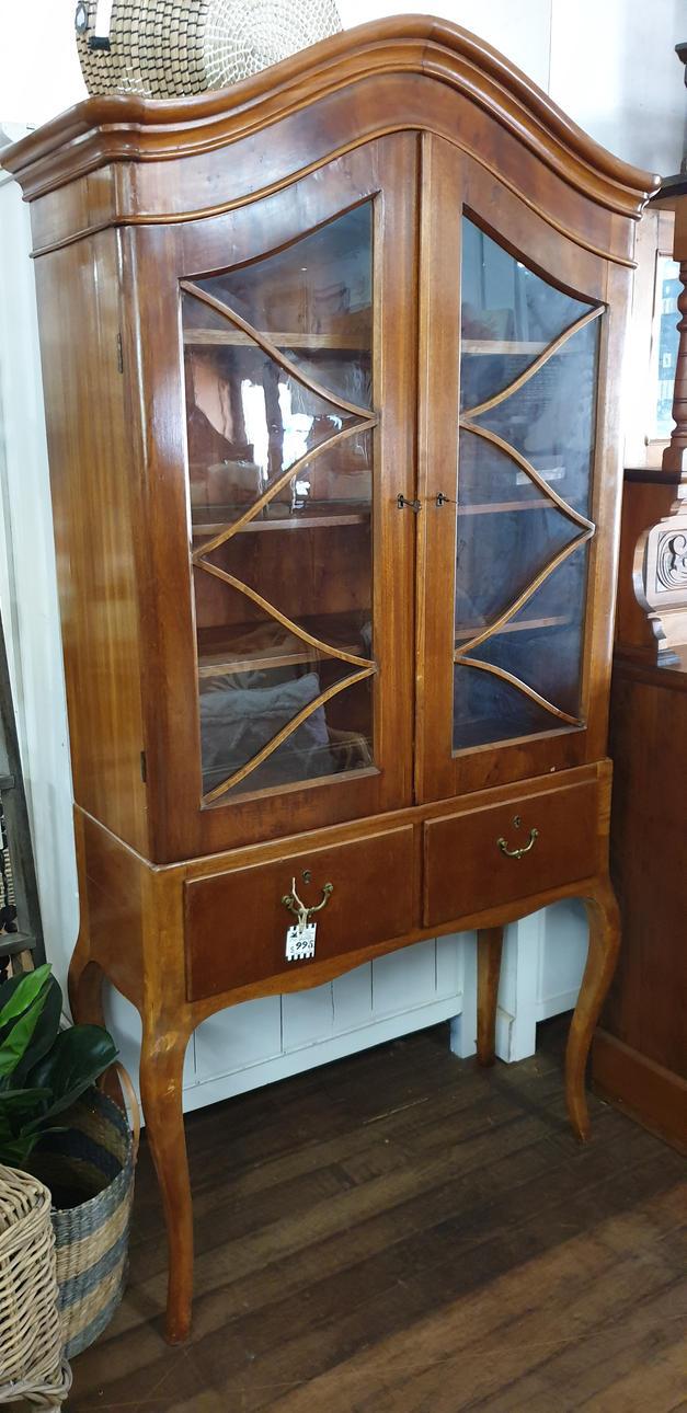 Mahogany & Flame Mahogany Display Cabine