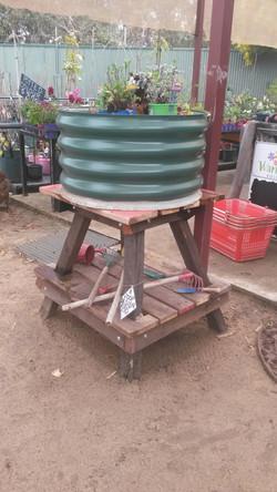 small tank stand herb or veg garden