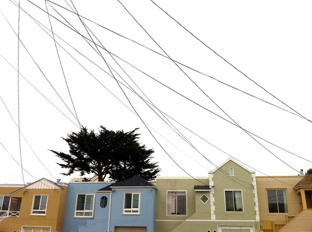 San Francisco power lines