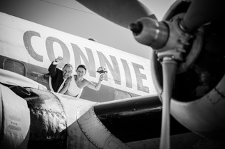 wollongong-airport-wedding-plane-constel