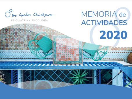 Memoria de Actividades 2020 Consulta Dr. Carlos Chiclana
